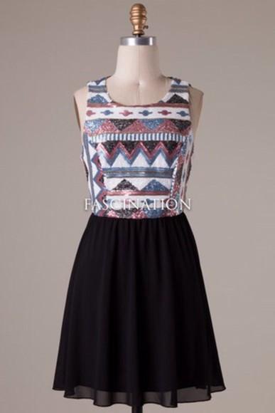 sequin dress aztec dress