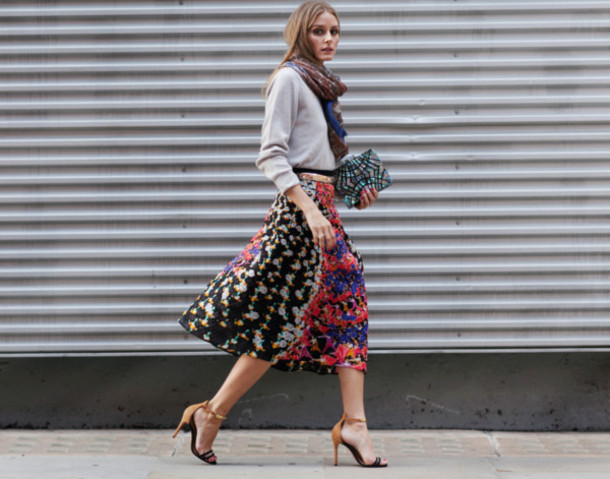 46f27f27928c skirt olivia palermo fashion week 2014 streetstyle clutch bag scarf peter  pilotto