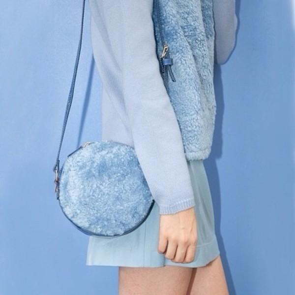 bag blue bag sirkel round bag pastel pastel blue blue