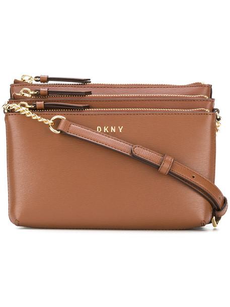 DKNY cross women bag leather brown