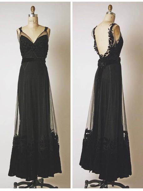 dress black dress lace dress dress open back dresses long dress black lace see through dress see through sexy dress prom dress long gown black lace long prom dress