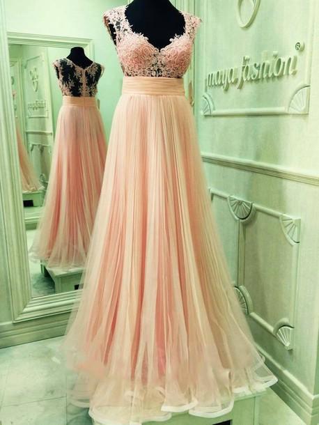 cb1fa886d01 dress pink formal elegant lace prom homecoming dress beautiful dressofgirl prom  dress bridesmaid long maxi maxi