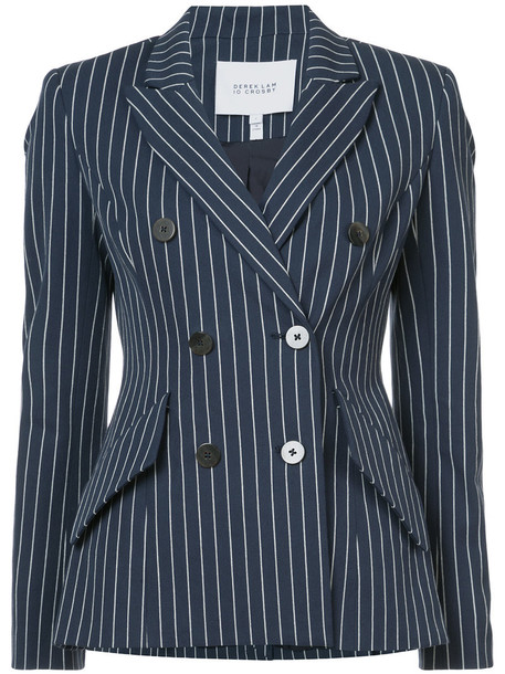 DEREK LAM 10 CROSBY blazer women cotton blue jacket