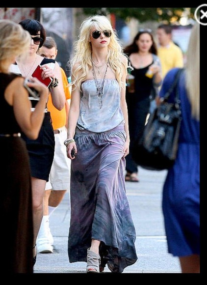 taylor momsen dress hippie tie dye