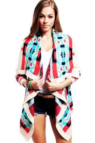 sweater pink cardigan aztec jacket