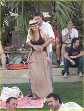 celebrity,maxi dress,skirt,nude,diane kruger