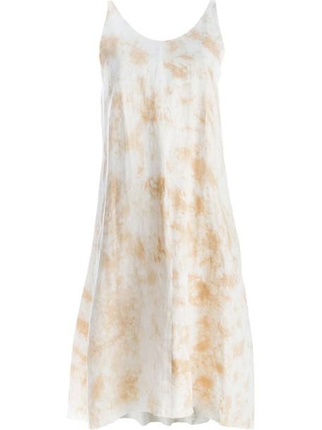 Individual Sentiments dress women tie dye nude cotton print