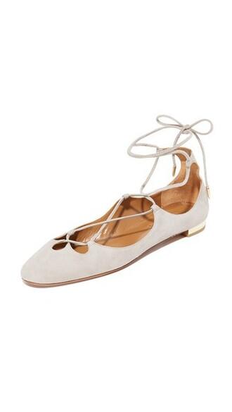 light flats grey shoes