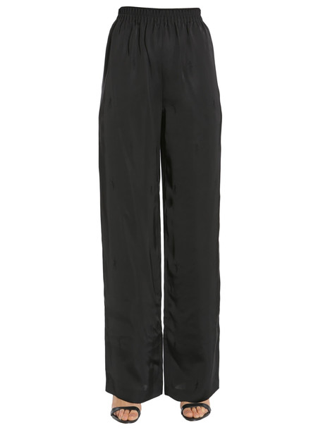 Alexander Wang Wide Leg Trousers in nero
