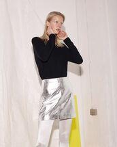 skirt,metallic skirt