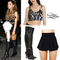 Ariana grande: sequin top, black shorts   steal her style