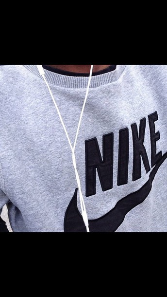 sweater nike sweater grey sweater
