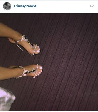 shoes ariana grande high heels open toes sandal heels high heel sandals jewels silver silver shoes silver high heels sandals sexy shoes high end very high stilettos silver sandals