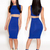 Blue Sexy Dress - Bqueen Sapphire Blue Mesh  Party | UsTrendy