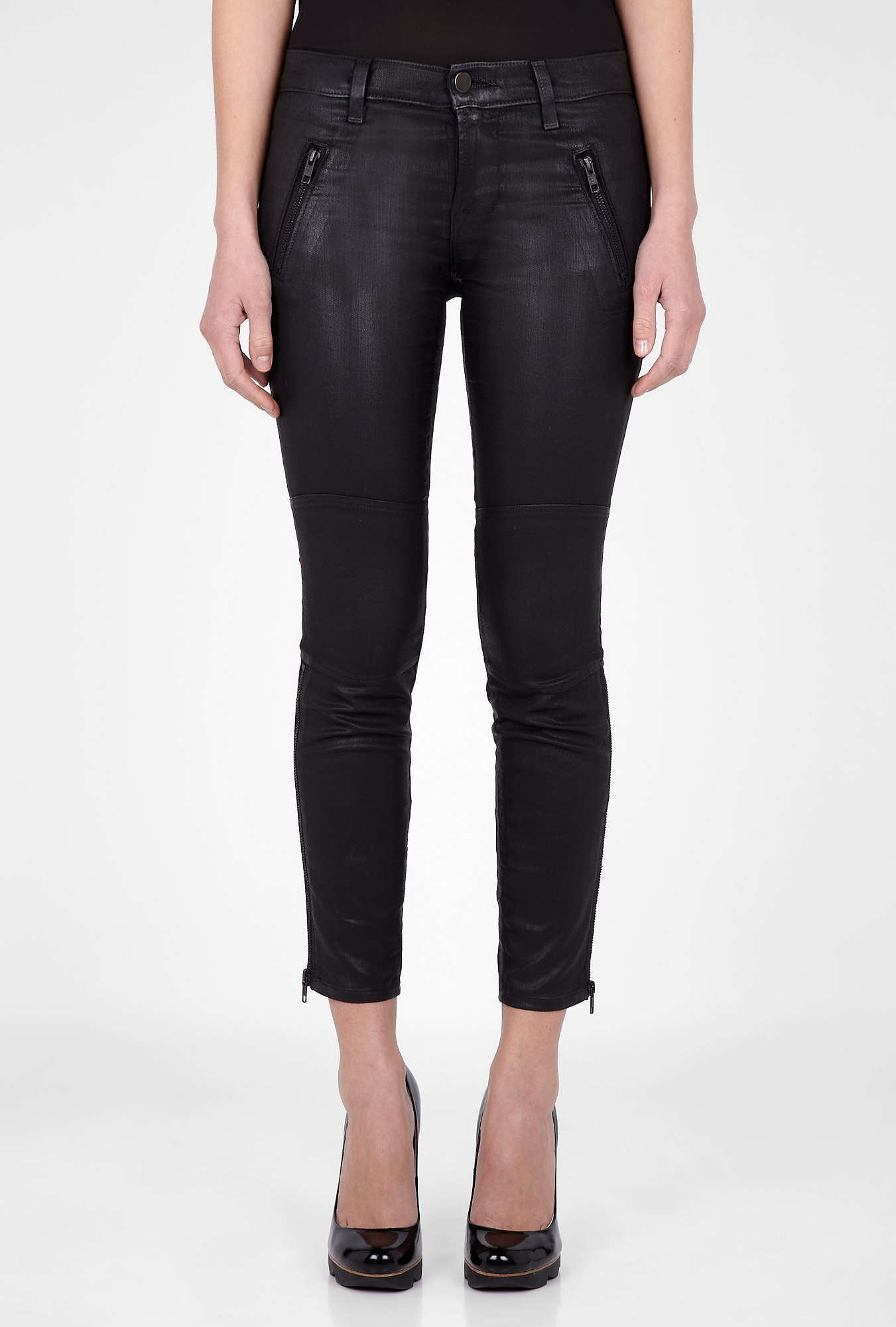 Agnes zipper coated skinny jean by j brand