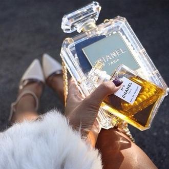 bag clutch chanel perfume perfume bottles perfume bottle perfume bottle case brand high end clear clutch clear clear bag