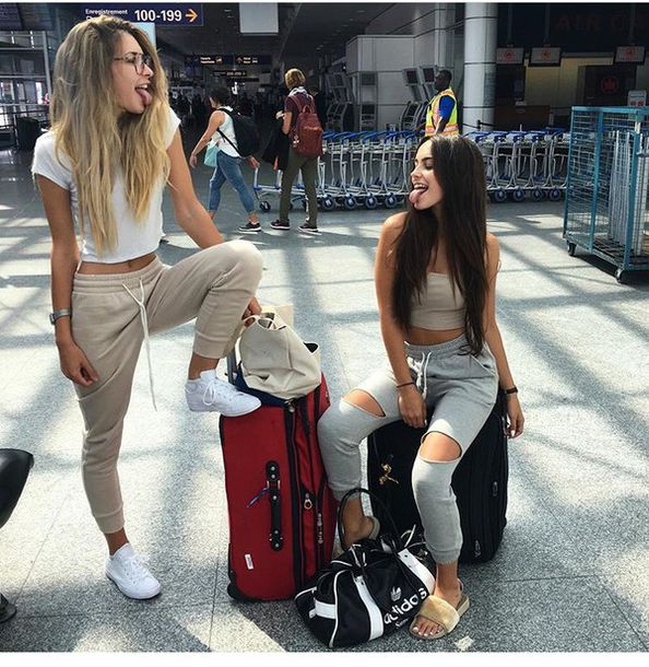 Girls White Sweat Pants December 2017