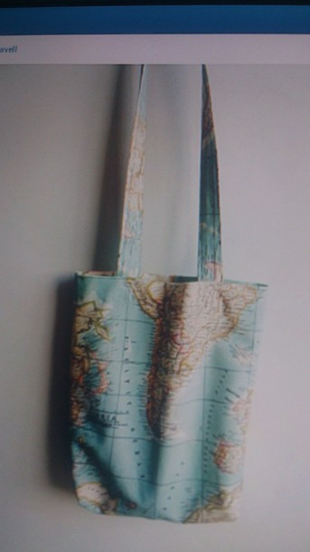 bag map shoulder bag world