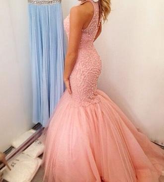 dress prom dress evening dress pink dress ball gwon