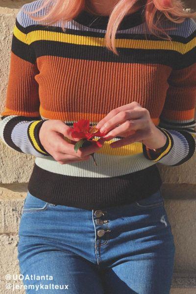 UO Keira Crew-Neck Pullover Sweater