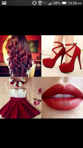 red skirt dress red dress short party dresses short dress strapless strapless dress