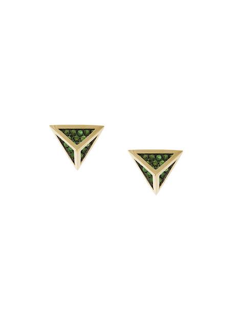 women earrings stud earrings gold yellow grey metallic jewels