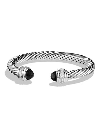 David Yurman Cable Classics Bracelet with Black Onyx and Diamonds