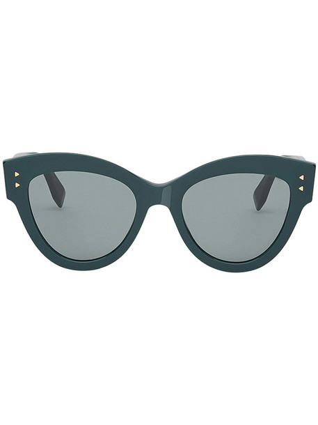Fendi Eyewear women plastic sunglasses green