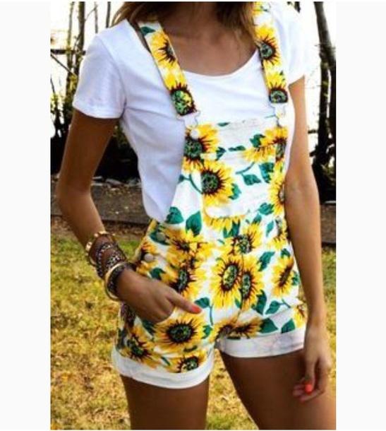 pants sunflower denim overalls shorts
