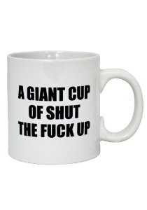 Large Rude Mug - Shut Up: Amazon.co.uk: Health & Personal Care