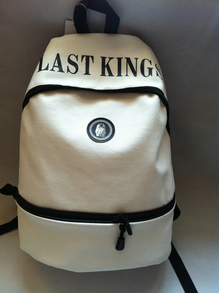 Last kings backpack white black print school bag hiphop baseball cap-inCasual Daypacks from Luggage & Bags on Aliexpress.com