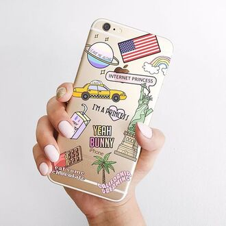 phone cover yeah bunny iphone iphone case american dream american flag new york city california iphone cover
