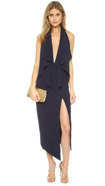 Misha Collection Lorena Dress - Navy