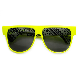 sunglasses eyewear neon neon sunglasses flat top flat top sunglasses printed sunglasses