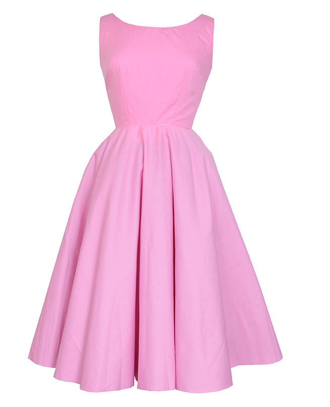 Audrey pink vintage inspired dress