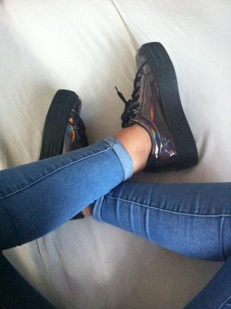 shoes jeans metallic shoes metallic idk