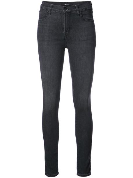 J BRAND jeans skinny jeans high women cotton black