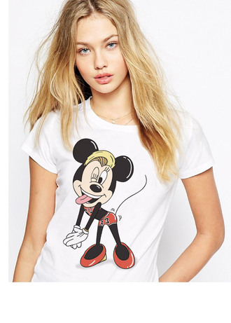 t-shirt minnie mouse mouse disney parody funny fan art cool white art celebrity cyrus brand fashion swag top crop tank top graphic tee quote on it celebrity style celebrities in white miley cyrus