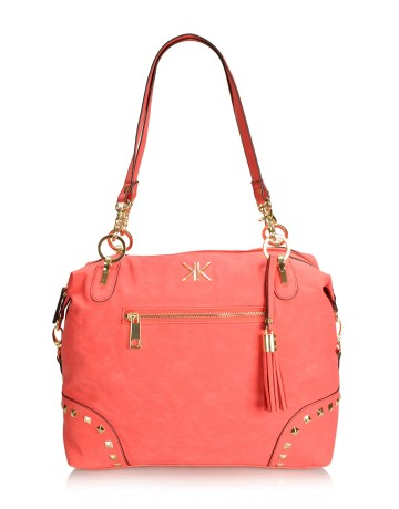 Kardashian Kollection Casta oversized slouchy studded shoulder bag from EverMe