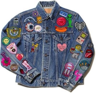 jacket 90s grunge skeleton bones bart simpson donut video games the simpsons lips bitch denim jacket sassy grunge tumblr feminist heart jeans patch eyes alien hipster the rolling stones punk cool