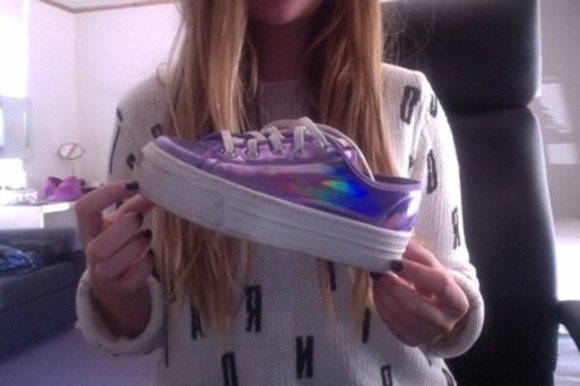shoes metallic shoes sneakers platform shoes rainbow metallic shoes flat form shoes
