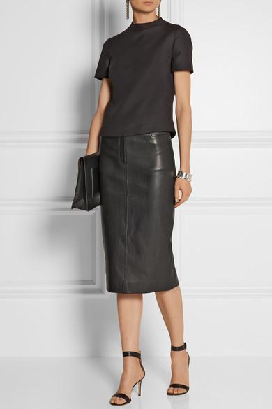 joseph clan leather pencil skirt net a porter