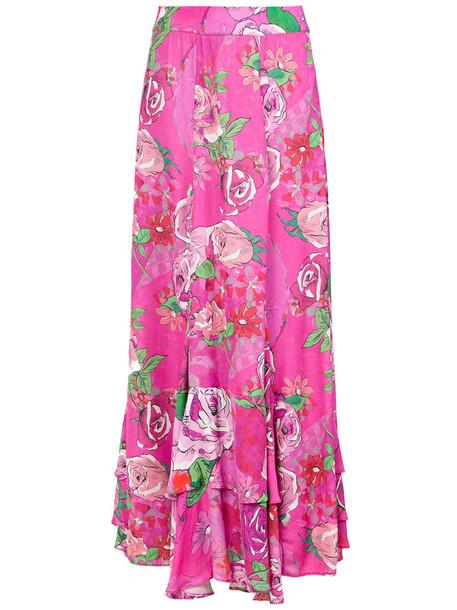 AMIR SLAMA skirt women floral print