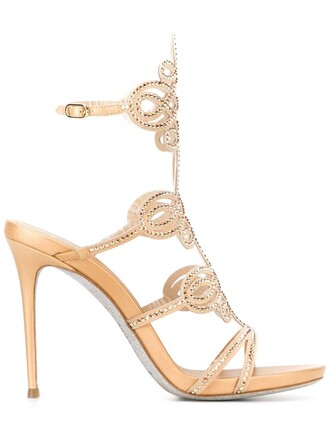 embellished sandals metallic shoes