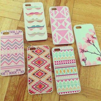 jewels iphone5 iphone cover bag phone bag iphone ethnic mustache rose green