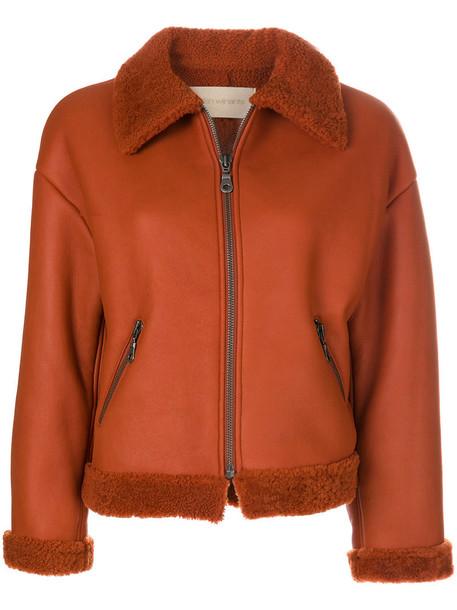 Christian Wijnants coat fur women yellow orange
