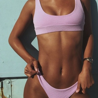 swimwear lavendar bikini top tight light pink sports bra sportswear