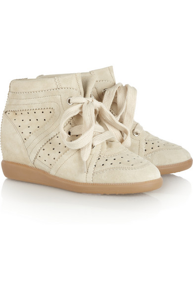 Isabel Marant | The Bobby suede sneakers  | NET-A-PORTER.COM