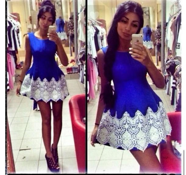 dress women blue dress marine blue sexy dress classy dress blue and white summer dress summer prom dress girly classy