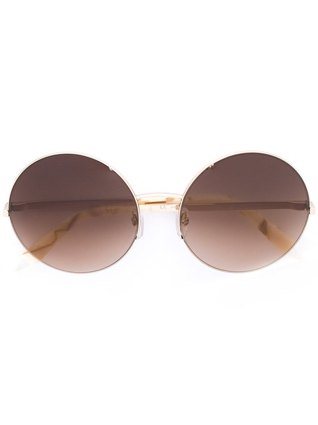 Victoria Beckham metallic women sunglasses nude